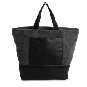 DSW Exclusive Grey Wool Tote